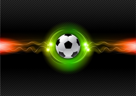 football on the electric background Vector