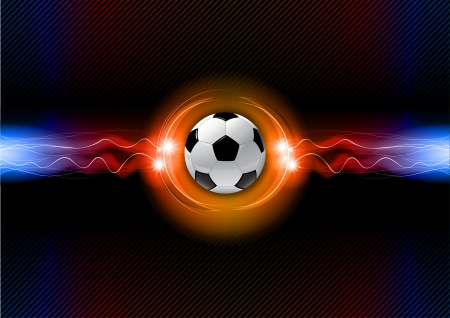 soccer ball on the flashing background