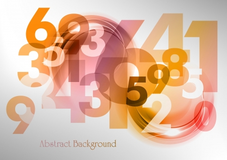 number code: abstract background with the numbers Illustration