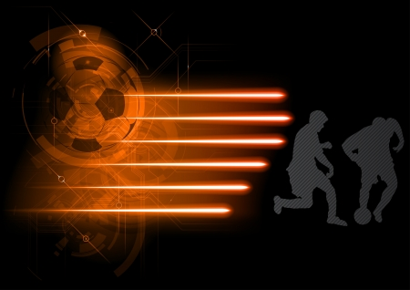abstract background with soccer players Vector