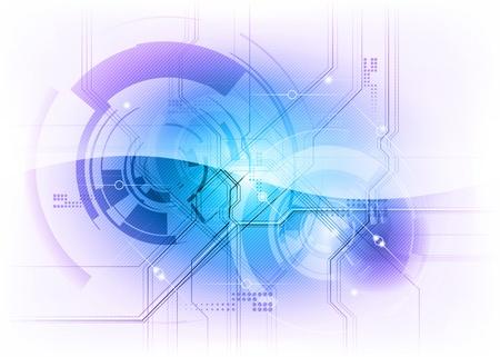 sfondo tecnologia nelle Clolors blu Vettoriali