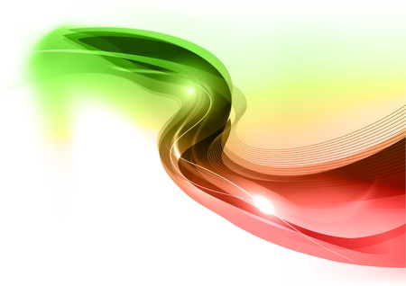 groene en rode golf op de witte achtergrond