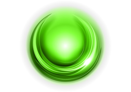 green rounded shape on the white Stock Vector - 17386315