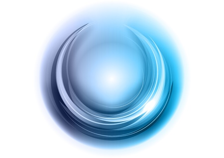blue rounded shape on the white