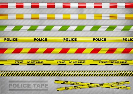police tapes in the various colour Vector