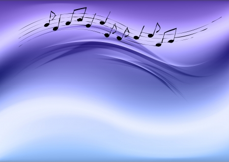 music symbols: music background at the cold blue color