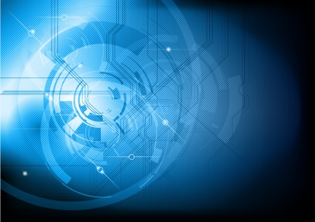 blue abstract tech background Illustration
