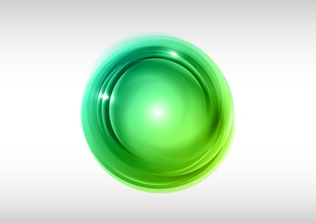 green rounded shape on the white Stock Vector - 18290864