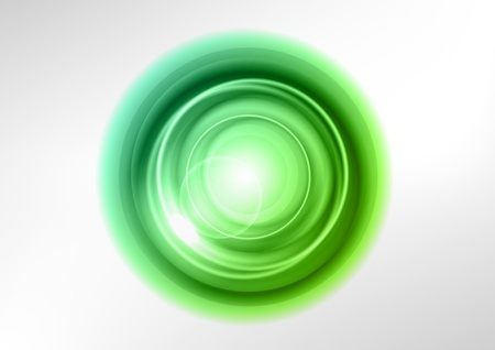green abstract circles on the white Stock Vector - 18550501
