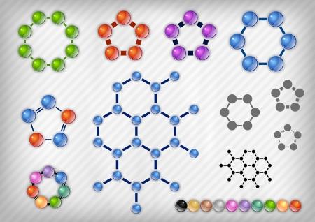 chemist on the grey background Illustration