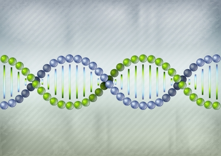 dna test: two color DNA on the grey background Illustration