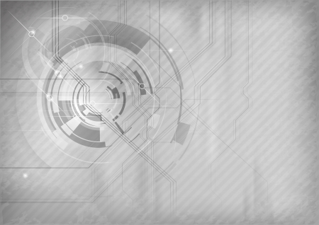 grey abstract tech background Illustration