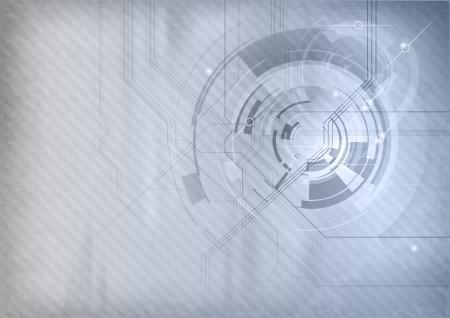 grey and blue abstract tech background Vector