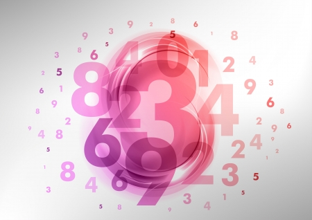 abstract background with purple and pink numbers