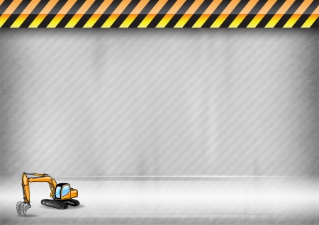 hydraulic: digger on the abstract background Illustration