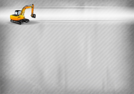 earthmover: digger on the grey background Illustration