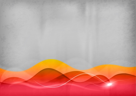 red background with the light wave