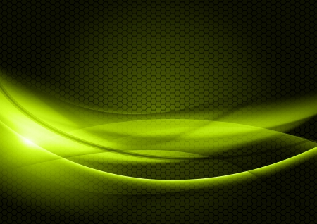 green abstract shapes on the dark background