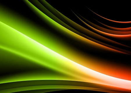 abstract background - green and orange vivid color Vector