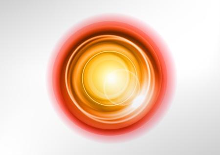 effetti di luce: arancio cerchi astratti sul bianco