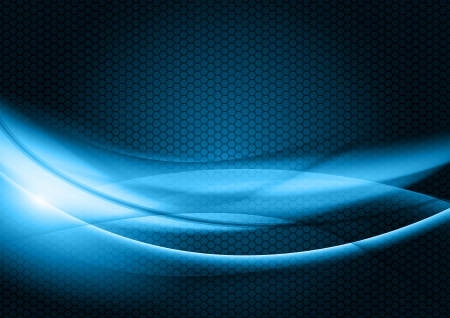 blue abstract shapes on the dark background Ilustração