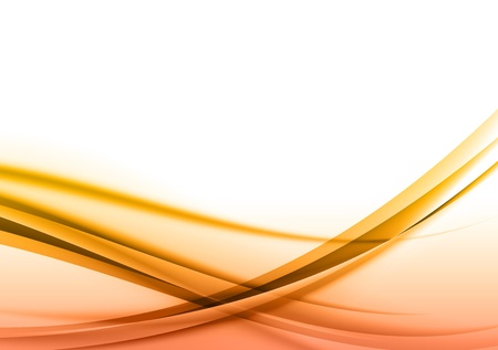 abstract background with orange curves Stock Vector - 19719983