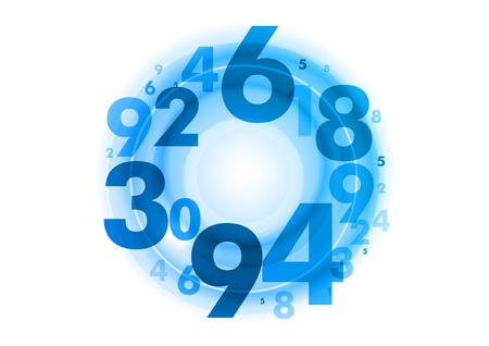 numbers background: abstract background with blue numbers Illustration