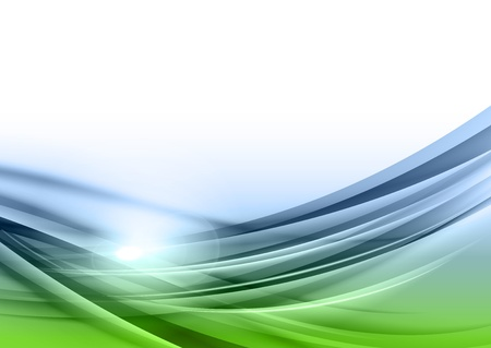 green and blue abstract background Illustration