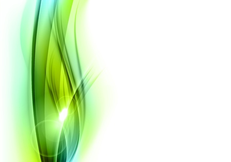 green abstract shape on the white