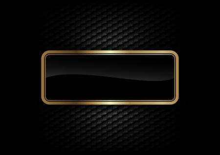 暗い背景にゴールド フレーム