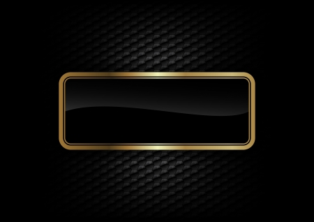 gold frame on the dark background Vector