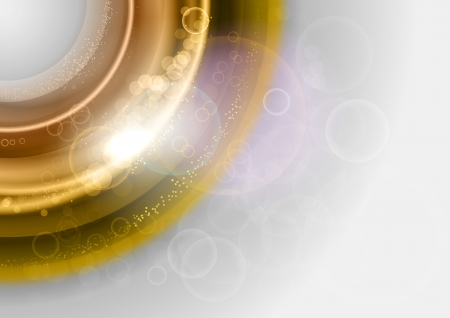 abstract shining circles in the gold color Illustration