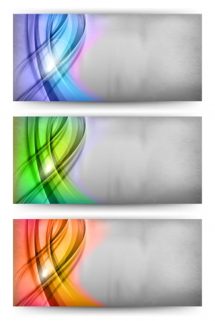 three card of abstract theme Illustration