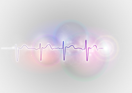 electrocardiogram: medical symbol on the shine abstract background Illustration