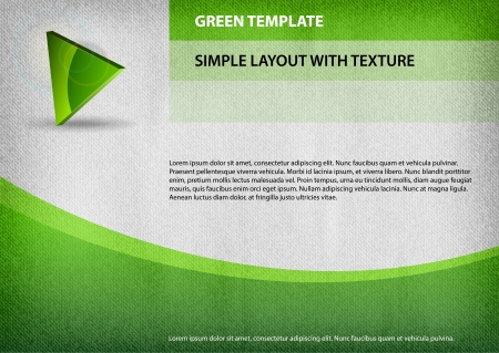 corporative: green template with simple symbol Illustration