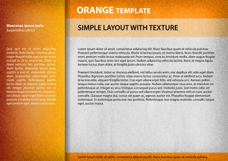page layout: orange layout page with the structure