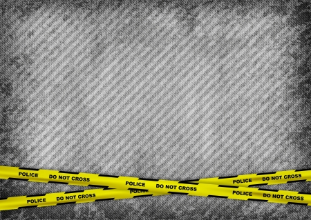 criminals: grey texture background with police tapes