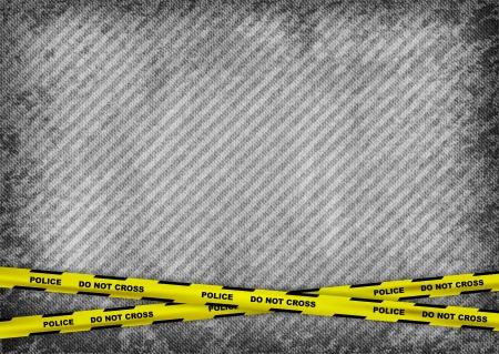 escena del crimen: textura de fondo gris con cintas policiales