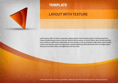 page layout: orange page as design layout Illustration