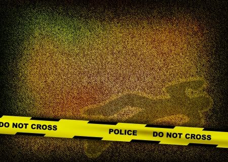 crime scene: dark texture with murder silhouette