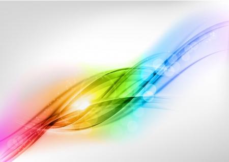 ライト空間内の抽象の虹