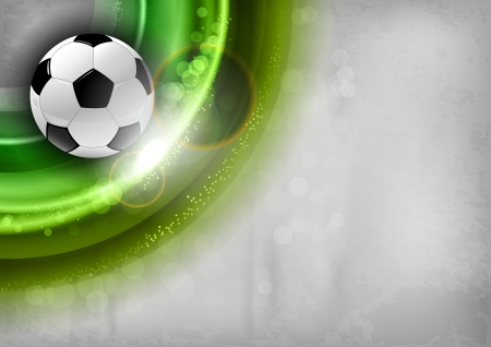 football on the green abstract shape Vector
