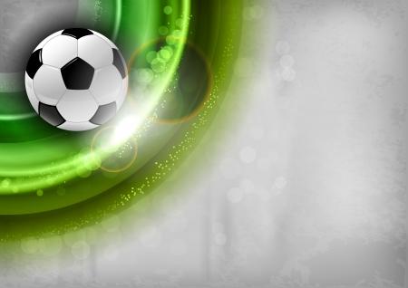 voetbal op de groene abstracte vorm