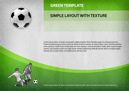 sport template with soccer symbols Vector