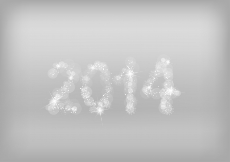 new year 2014 on the gray background Stock Vector - 21496188