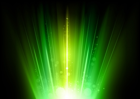 refrigerant: green rays in the dark space Illustration
