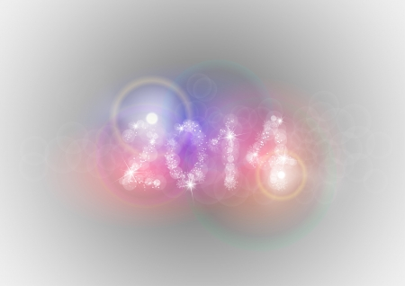new year 2014 on the abstract background Vector