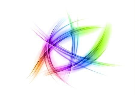 rainbow shapes on the white background Illustration