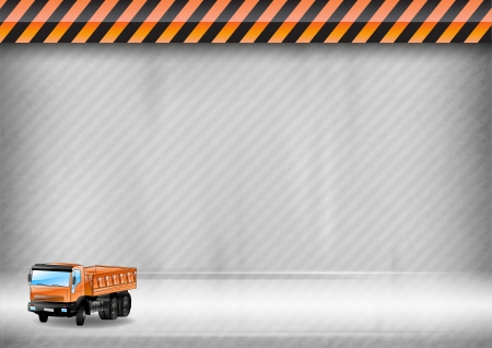 construction background with orange truck Stock Vector - 21787327