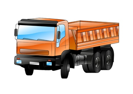 truck isolated on the white background Stock Vector - 21787328